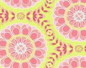 Helens Garden Dahlia Medallion Lime by Tamara Kate for Michael Miller Fabrics