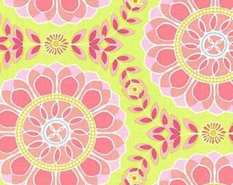 Helens Garden Dahlia Medallion Lime by Tamara Kate for Michael Miller Fabrics 2007