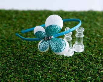 Headband for Kids, Girl Headband, Glitter Double Layer Butterfly Headband for Kids - Mint