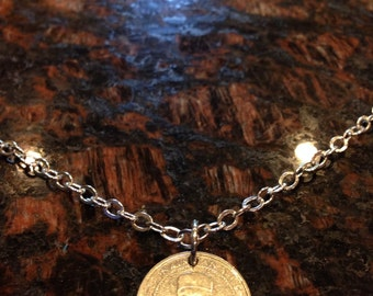 Sierra Leone 100 Leones coin necklace
