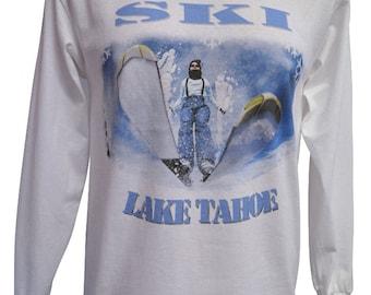 Lake Tahoe Ski Long Sleeved Tee
