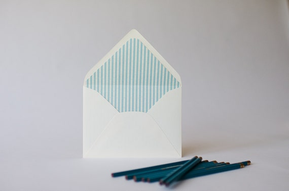 seersucker lined envelopes (25 color options) - sets of 10
