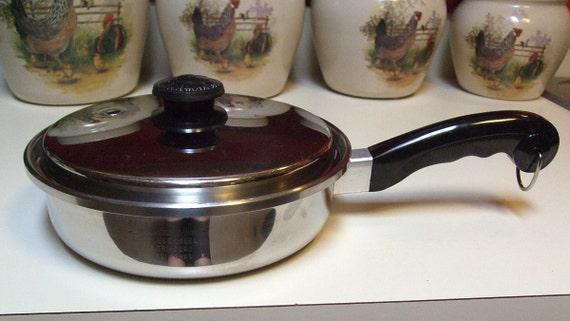 Vintage Saladmaster 9 Inch Skillet Frying Pan Vapo Lid