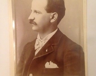 Mustachioed Men Photographs/Cabinet Cards from Turn of the Century