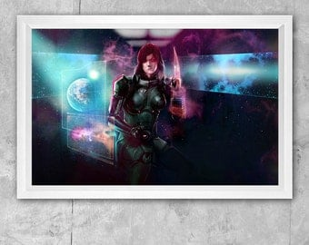 Large 11 x 17 Mass Effect Commander Shepard (FemShep) Print