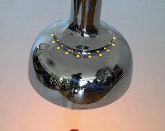 16 in. HUGE CHROME BELL chandelier vintage mid century retro 1960 era
