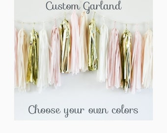 CUSTOM TASSEL GARLAND - tissue tassel garland