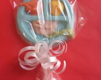 Baby food on plate lollipop (dozen)