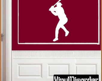 Baseball Vinyl Wall Decal or Car Sticker - baseballst001ET