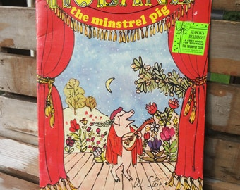 Roland The Minstrel Pig, William Steig, Trumpet Book Club, 1989, read aloud picture book