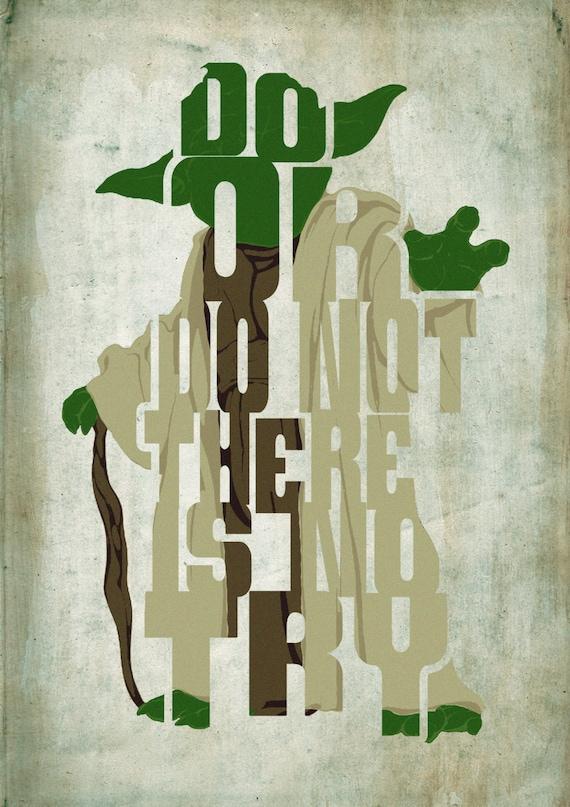 Minimalist Classroom Music : Yoda star wars poster minimalist typography movie