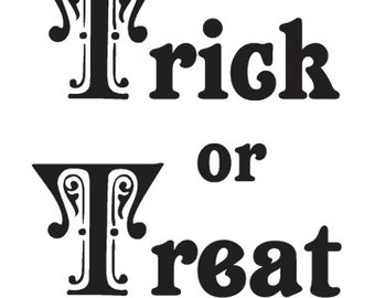 trick or treat pumpkin template - hocus pocus word stencil select size stcl1273 by