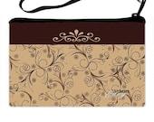 Wristlet clutch Chic chocolate design custom photo wristlet purse, clutch purse, cosmetic bag, shower gifts