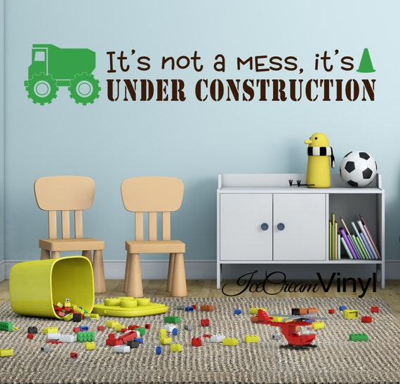Truck Decal Construction Decal Playroom Decal