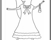 Un Vestido Nuevo Minibook + Paperdolls Level C...Resources for Teaching Spanish to Children