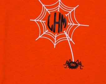 Tangled Web monogram t-shirt Perfect for Fall and Halloween!
