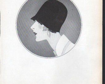 THREE FOR FOUR Art Deco era fashion print from Vogue magazine, front & back - fash 116
