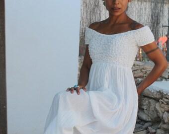 The long white Ibiza dress