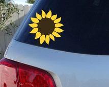 Sunflower Car Window Decal | Flower Car Window Decal | Flowers