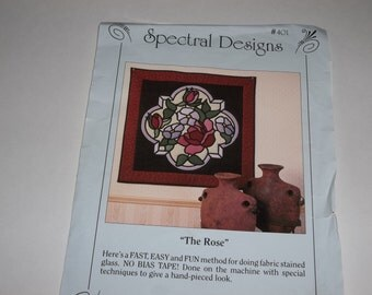 Fabric Stained Glass Pattern - The Rose