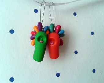 Mimoli polymer clay earrings colorful