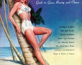 Magazine Collectible Art Vintage  - Beautify Your Figure Magazine  1946  Swimsuit Figures  Curly-haired Redhead Dancer Nevada Smith on cover