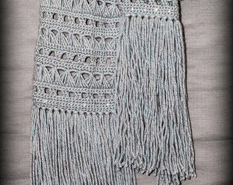 Broomstick Laced Button Holed Scarf PATTERN ONLY