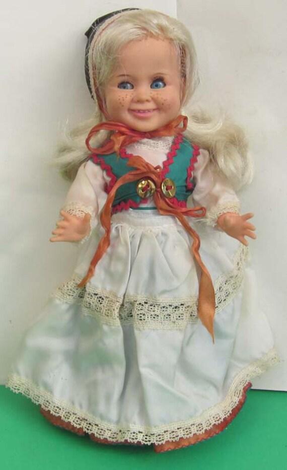 Vintage 1970s Vinyl Ratti Mattel Italy Doll Globus Denmark