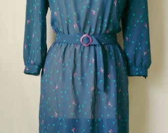 Vintage Alison Peters Dress with Floral Print