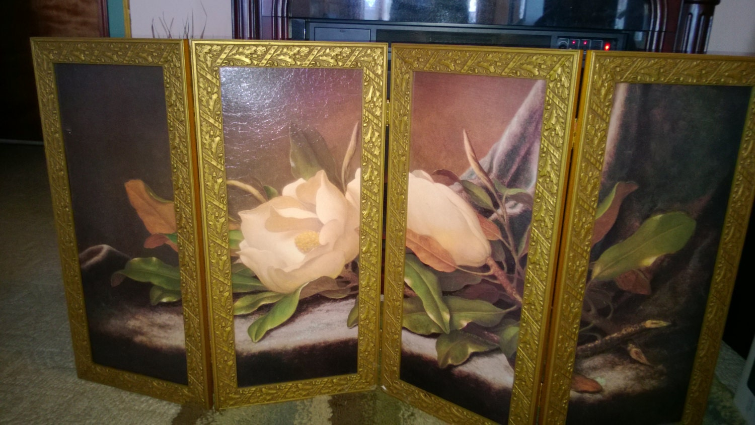 Hand Painted DECORATIVE Fireplace Screen Panel By WunderWoman04