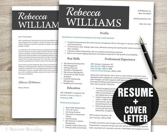 creative resume template instant download resume cover letter template cv template resume template