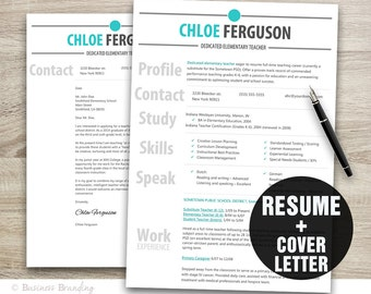resume and cover letter template i nstant word document instant