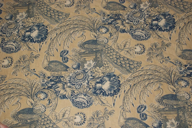 Cantata Peacock Fabric Toile Fabric Drapery Upholstery