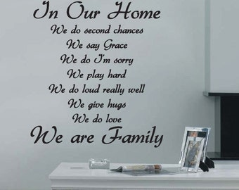 In Our Home Wall Quote Art Stickers Wall Decals