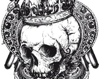 Hotfix/Iron on Skull