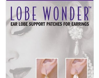 LOBE WONDER Earring Support Patches for Damaged; Stretched; and Torn Earlobes  (60 patches)