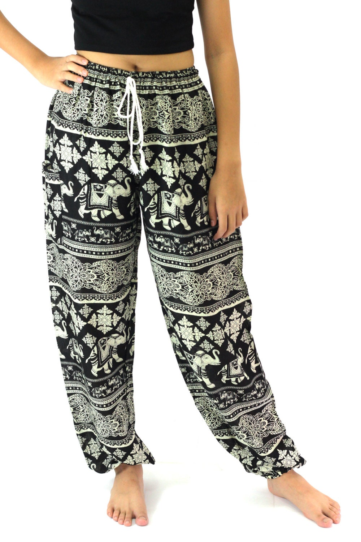 Luxury Maroon Harem Pants Baggy Elephant Hippie Women Belly Dance Plus Size