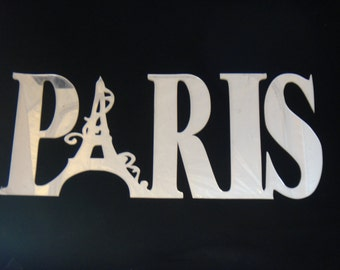 Paris Laser Cut Acrylic Mirror Wall Decor