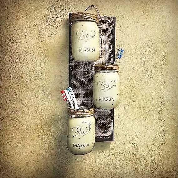 Diy Bathroom Wall Sconces : Farmhouse Decor Mason Jar Decor Rustic Cottage Chic by TeddysRoom
