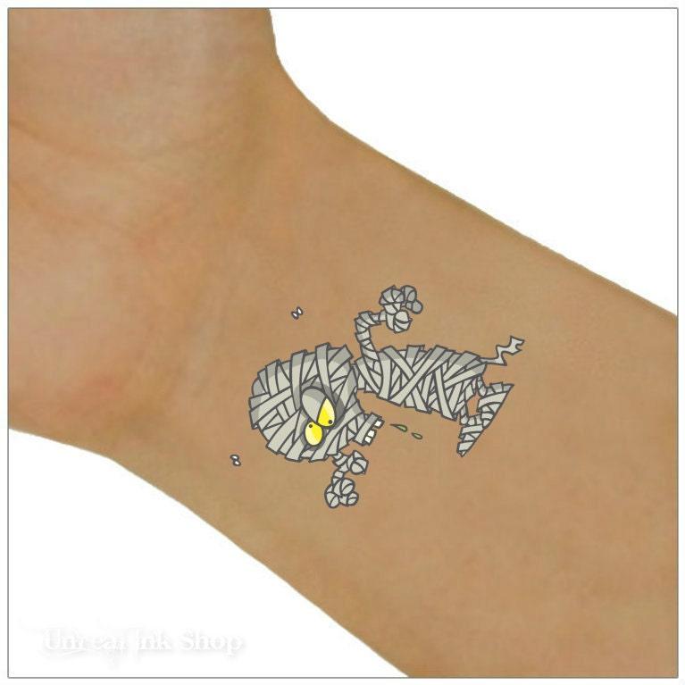 Halloween temporary tattoo 2 mummy wrist tattoos for Halloween temporary tattoos