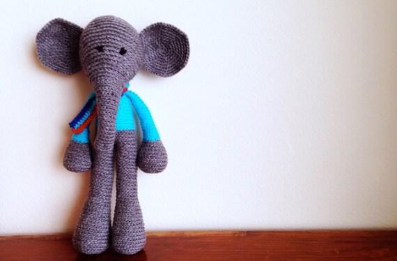 Items similar to Handmade Crochet Elephant Amigurumi on Etsy