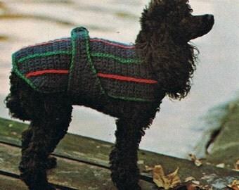 Crochet Dog Coat Pattern Instant Download PDF on Etsy