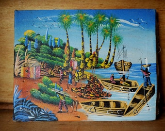 Great Vintage Island Painting