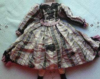 "Antique 16"" German Tin Head Doll"