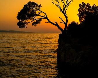 Croatia - Brela Rock silhouette - SKU 0117