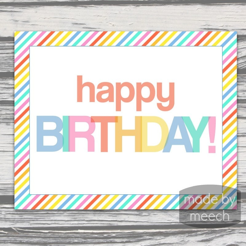 This is an image of Crush Happy Birthday Signs Printable