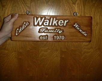 Carved Wood Sign, Wooden Name Sign, Custom Name Sign, Mailbox Number, Personalized Family Name Signs, Custom Carved Wood Signs, RED OAK