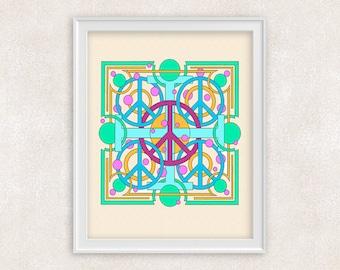 Peace Art Print - 8x10 - Peace Sign - Peace Symbols Wall Art - Item #528