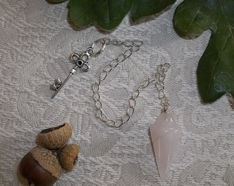 Rose Quartz Pendulum for Divination Magic