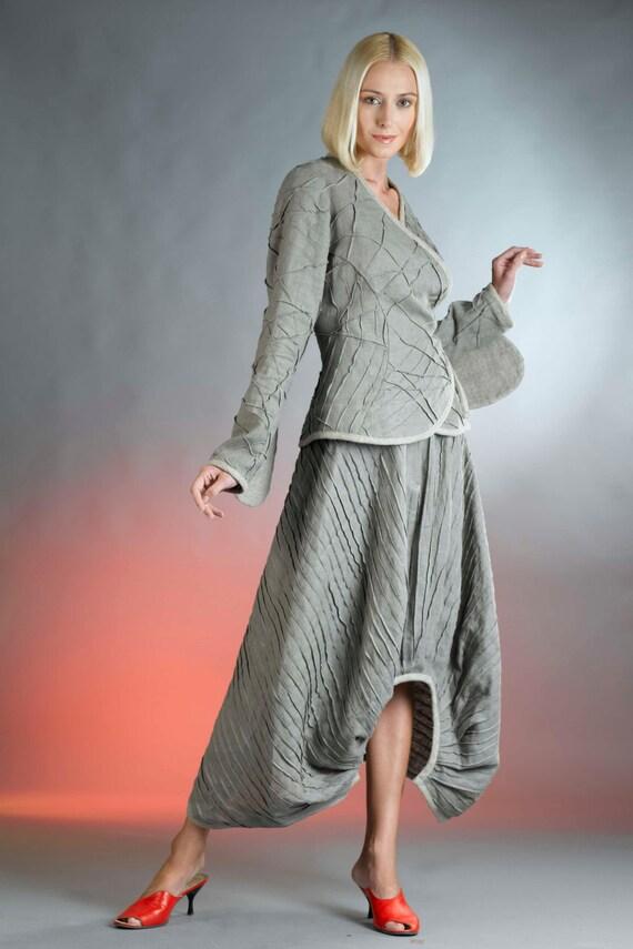 long flowy skirt  linen clothing for women  long skirt for